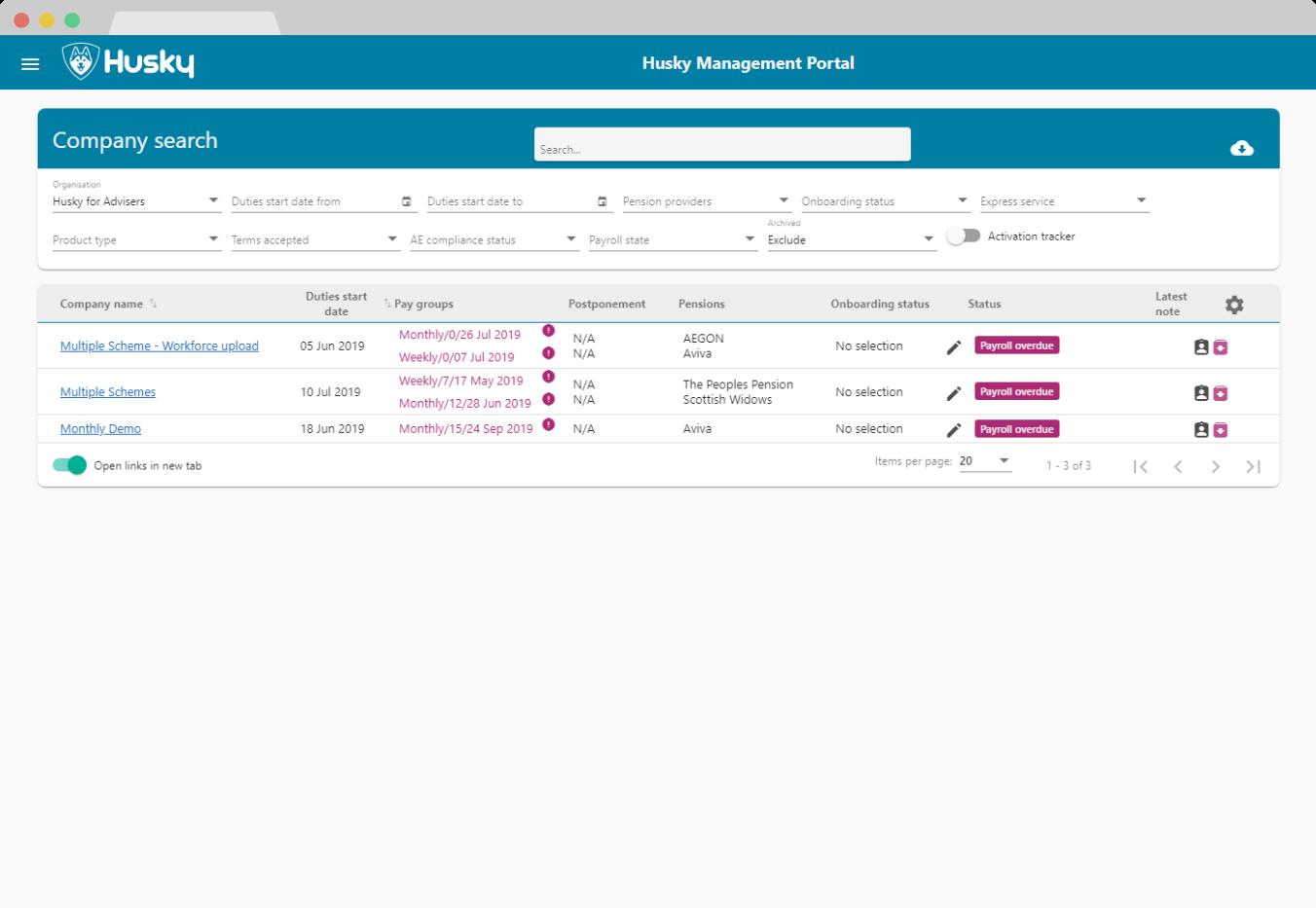 Husky Advisor Portal